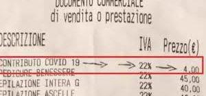 Aumento dei prezzi e un'illegittima tassa Covid negli scontrini fiscali