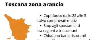 LA TOSCANA DIVENTA ZONA ARANCIO
